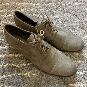 J Jill gray suede Oxford shoes size 8